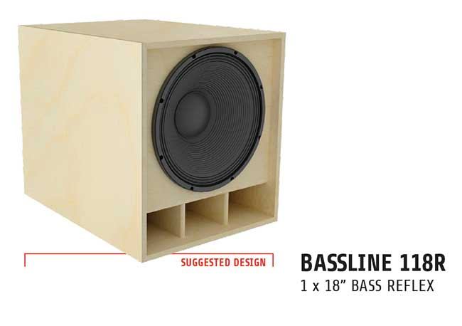 LaVoce bass cab plans 118R